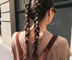 hair, girl, and braids image