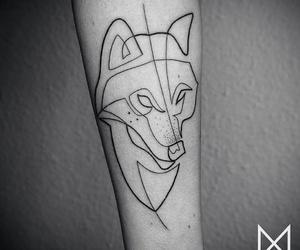 draw, wolf, and geometric image