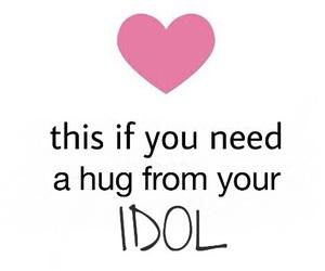 idol, hug, and heart image
