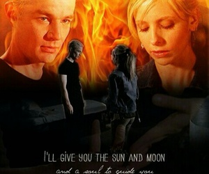 btvs, moon, and spike image