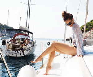 boat, summer, and danielle peazer image