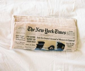 newspaper, new york, and vintage image