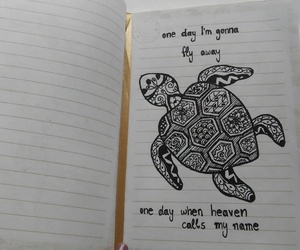 black, drawing, and notebook image