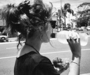 girl, water, and vintage image