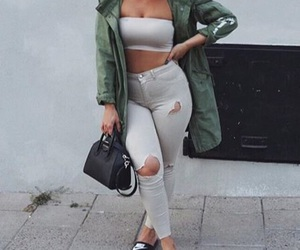 fashion, jeans, and top image