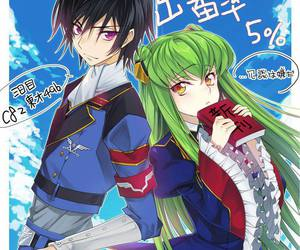 code geass, c.c, and lelouch lamperouge image