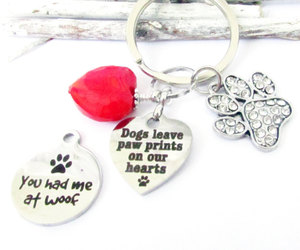 etsy, heart keychain, and pet loss keychain image