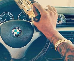 bmw, car, and gun image