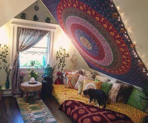 room and tapestry image