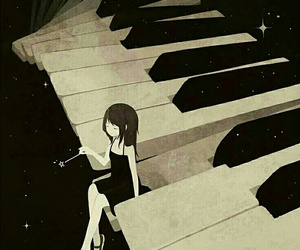 piano, anime, and music image