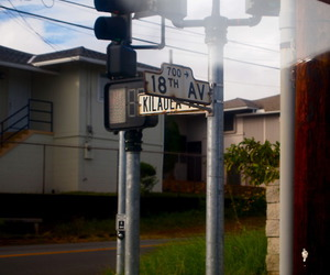 avenue, hawaii, and sign image