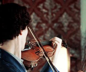 sherlock, benedict cumberbatch, and violin image