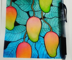 colorful, illustration, and mango image