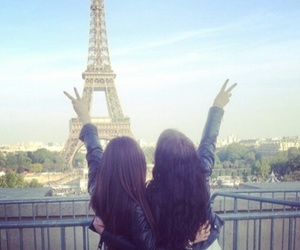 paris, friends, and peace image