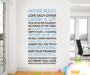 house, quote, and rules image