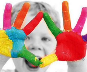 colors, baby, and hands image