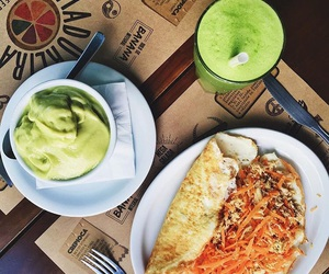 eggs, greenjuice, and healthyfood image