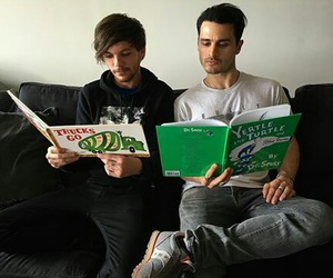 louis tomlinson, one direction, and michael malarkey image