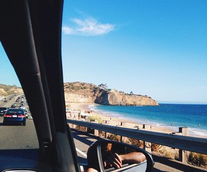 summer, beach, and car image