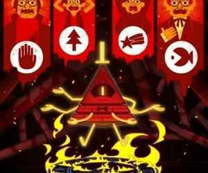 gravity falls and bill cipher image