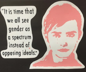 emma watson, feminist, and he for she image