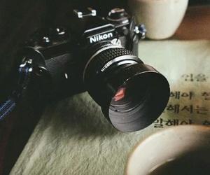 nikon, camera, and coffee image