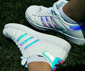 adidas, hologram, and superstar image