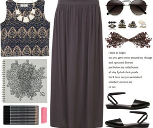 Polyvore, boho, and clothes image