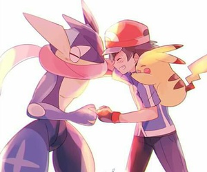 pokemon trainers and ash+y+greninja image