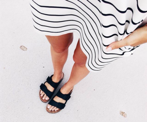 black, simple, and sandals image
