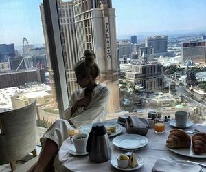 girl, breakfast, and luxury image