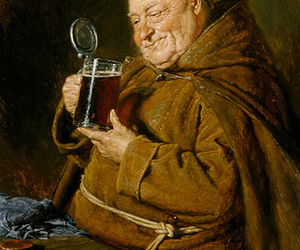 beer, fat, and monk image