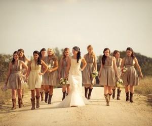 country, girl, and wedding image