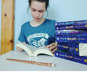 books, girl, and harry potter image