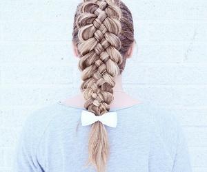 hair, braid, and girl image
