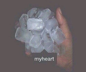 grunge, heart, and ice image