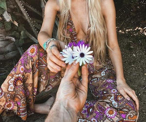 boho, flowers, and hippie image