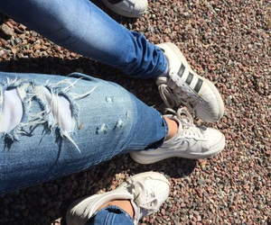 goals, haha, and jeans image