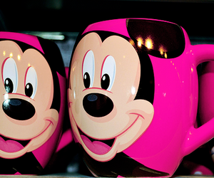mickey, disney, and pink image