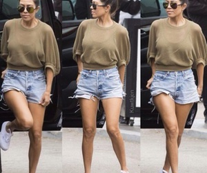 kim kardashian, short, and styles image
