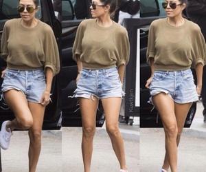 kim kardashian, short, and styles image
