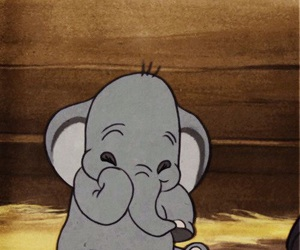 disney, dumbo, and elephant image