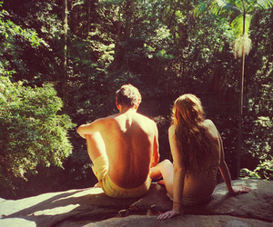 nature, indie, and couple image
