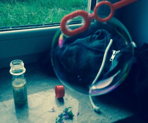bored, hoodie, and soapbubbles image