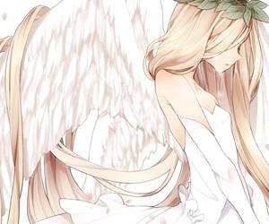angel, white dress, and anime image