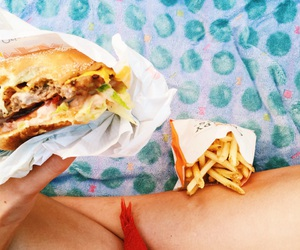 blanket, food, and fries image