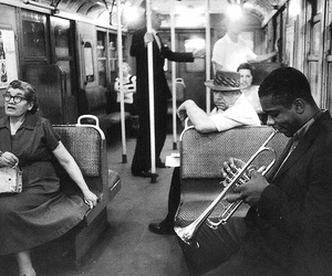 music, black and white, and jazz image
