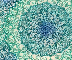 blue, mandala, and art image
