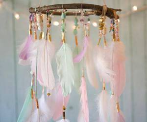 dreamcatcher, feather, and Dream image