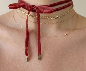 choker, red, and necklace image